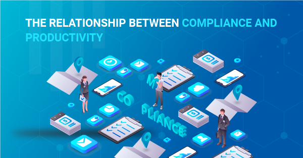 What is the relationship between compliance and productivity in business?